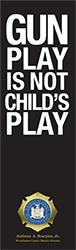 image of Gun Play is not Child's Play palm card