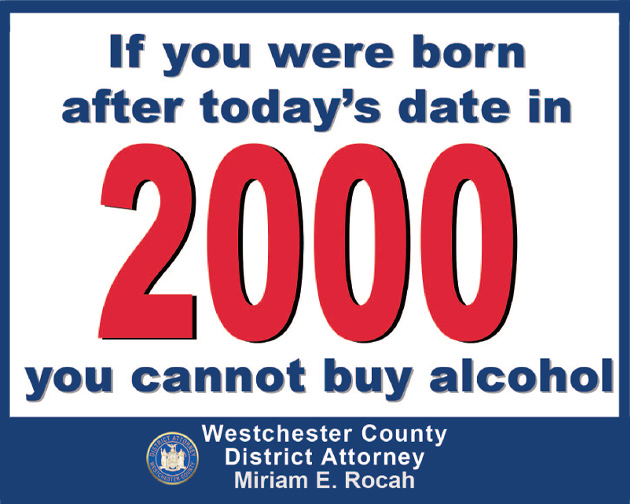 Legal Drinking Age Placard